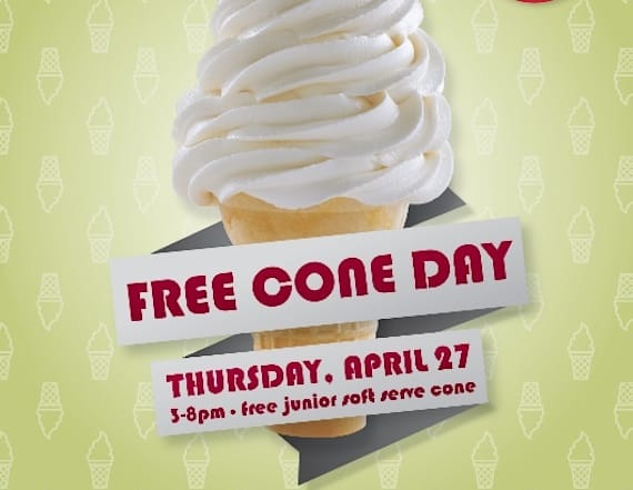 Carvel's Free Cone Day on April 27