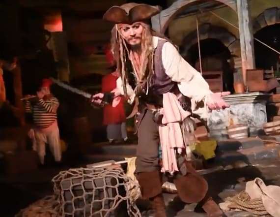 Johnny Depp shocks Disney guests