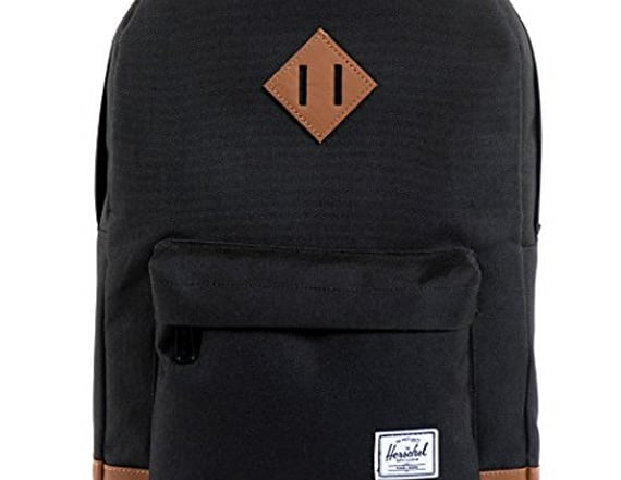 Secret use behind diamond-shaped patch on backpacks