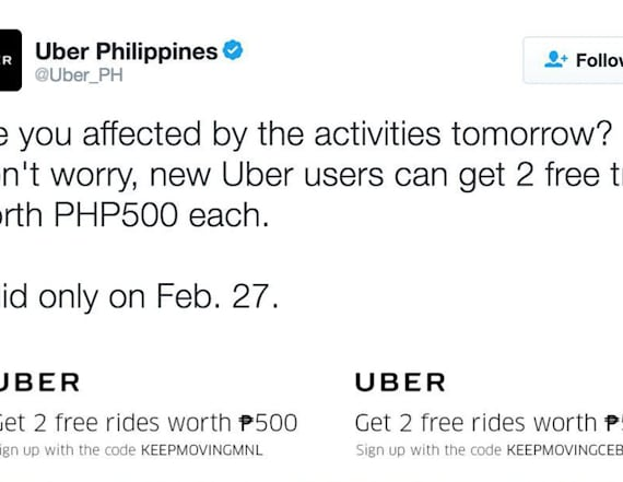 Uber in hot water for 'insensitive' promotion