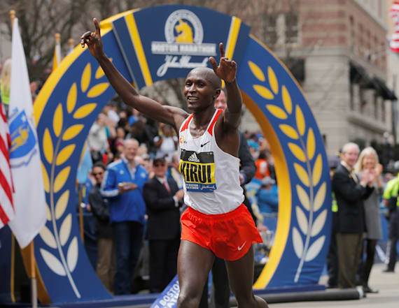 Geoffrey Kirui wins men's Boston Marathon