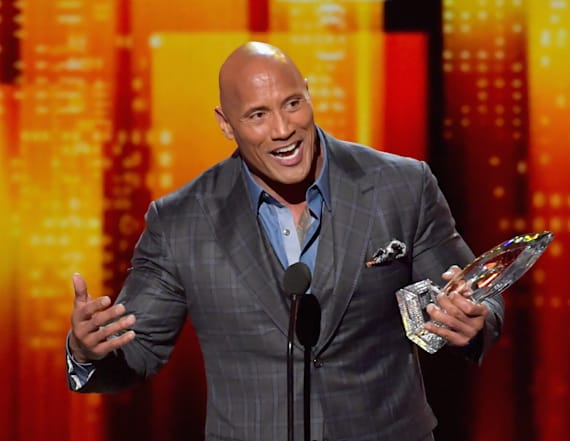 The Rock caught making crude gesture on live TV