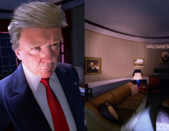 Virtual reality offers view of Trump's Oval Office