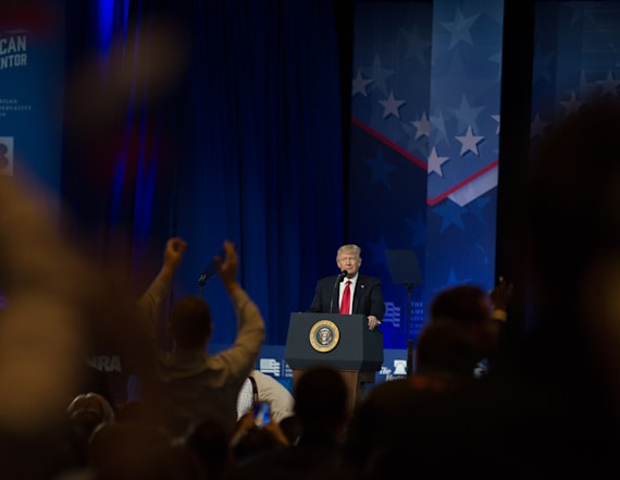 Trump's CPAC speech evokes 'lock her up' chant