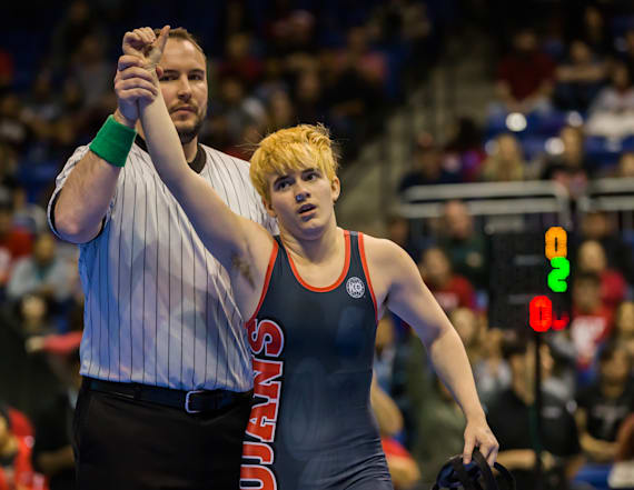 Transgender boy wins girls' wrestling title