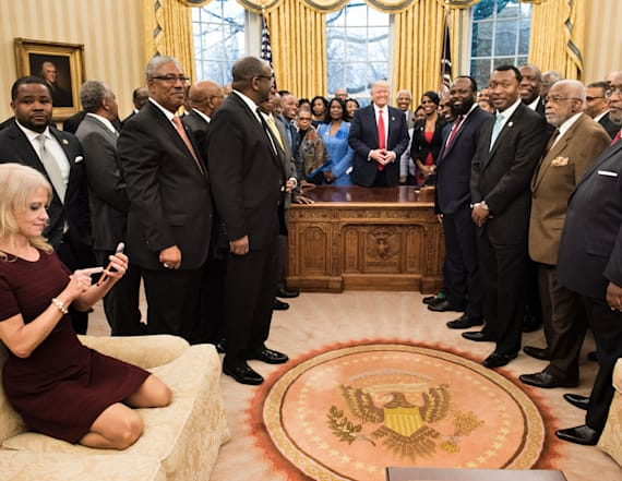 Photo of Conway on couch sparks Twitter reactions