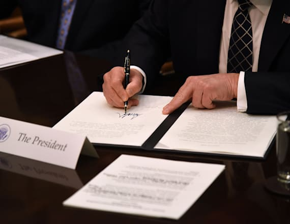 WATCH: Trump signs Antiquities Executive Order