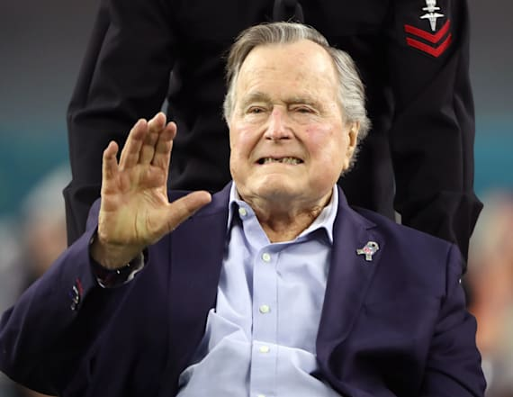Former President H.W. Bush still hospitalized