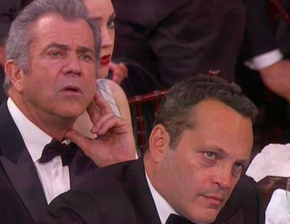 Gibson, Vaughn were unimpressed by Streep's speech