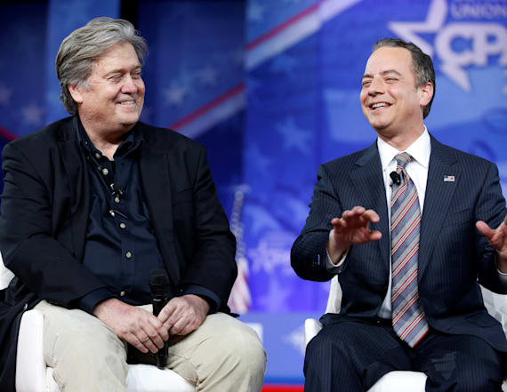 Bannon and Priebus give rare joint interview at CPAC