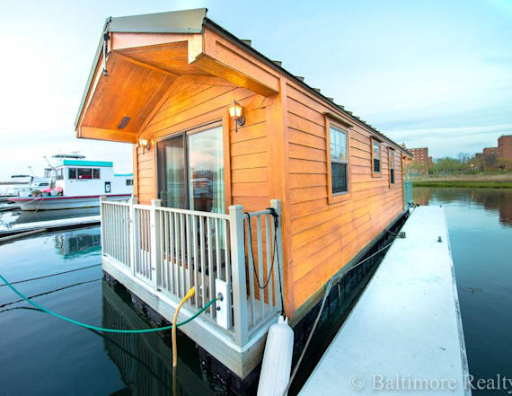 This 400-square-foot tiny home floats on water