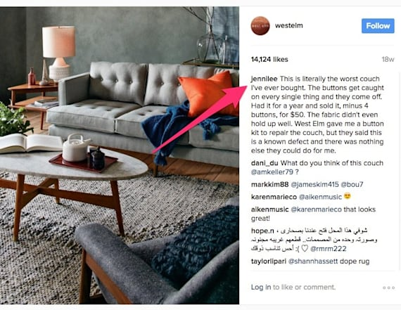 West Elm giving away full refunds for infamous couch