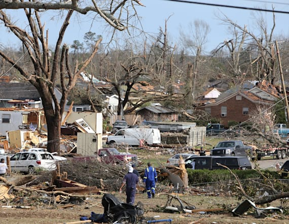 Deadly storms track across U.S. South