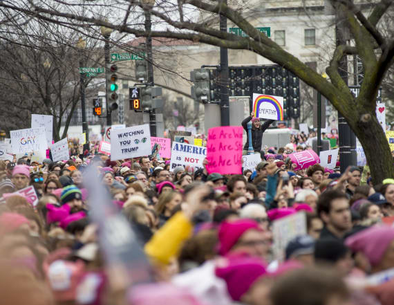 Sales of one item soared during the Women's March