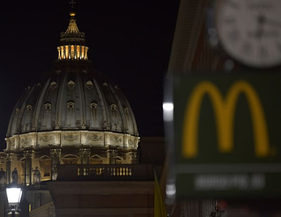 McDonald's helps feeds homeless in Rome