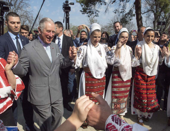 Prince Charles busts a move in Romania