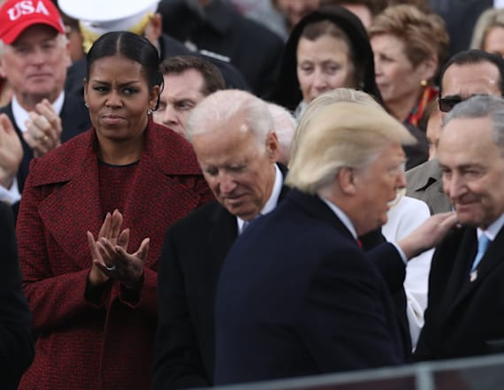 Michelle's face during inauguration fuels Twitter