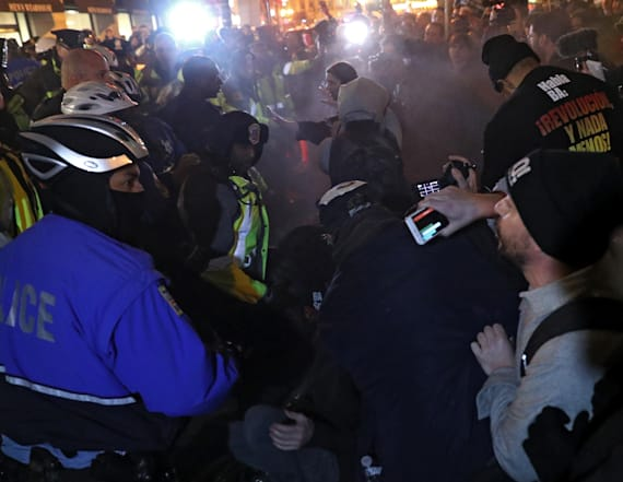 Anti-Trump protesters pepper sprayed in D.C.
