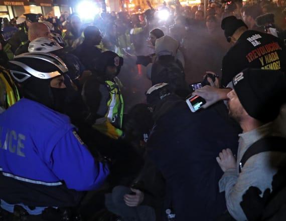 Anti-Trump protesters pepper sprayed in D.C.