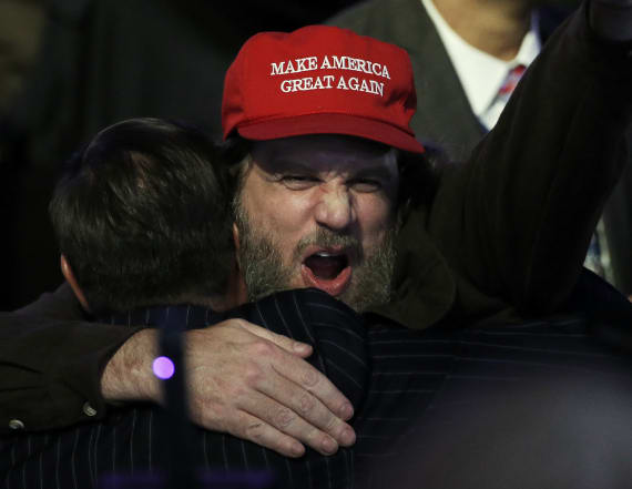 Trump supporters wear 'MAGA' hats from outside US