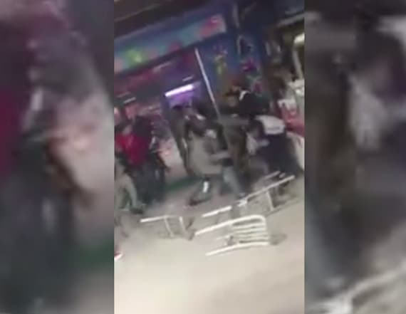 Chairs fly as brawl breaks out in NYC restaurant