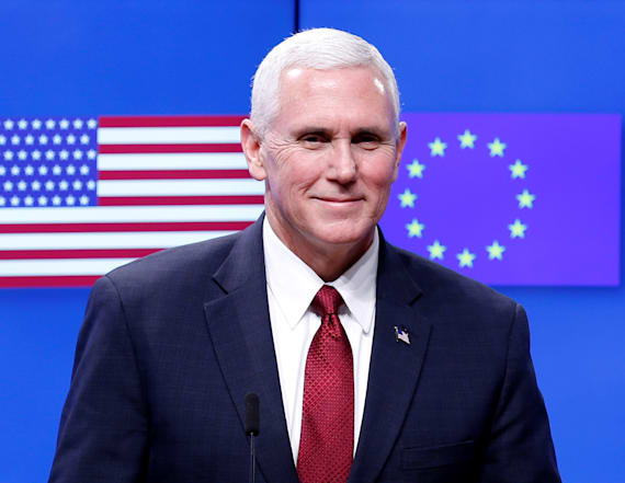 Pence brings Trump message of partnership with EU