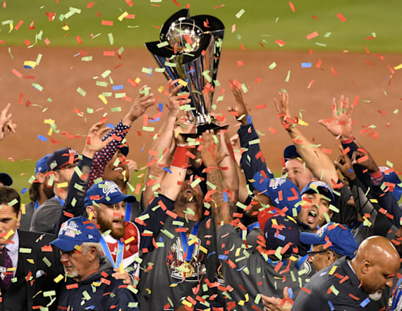 United States celebrate their first WBC title