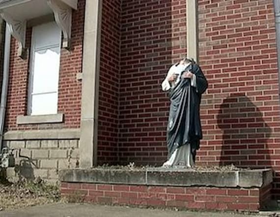 Jesus statue decapitated twice in two weeks