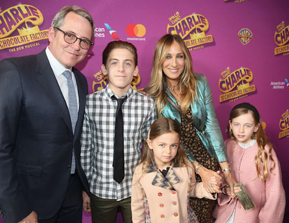 SJP's children make rare appearance