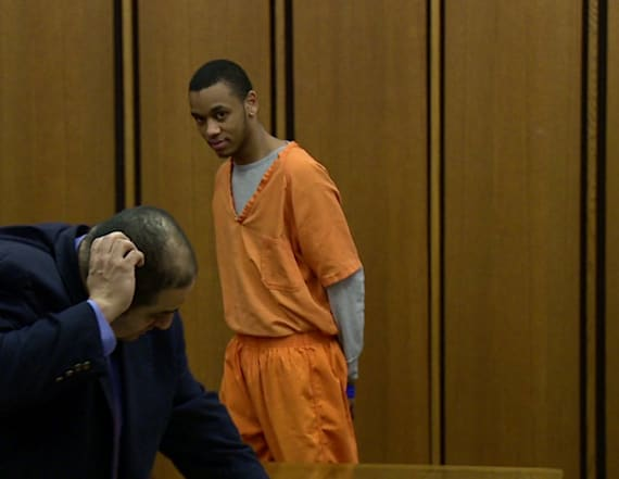 Rapper facing charges films music video in court
