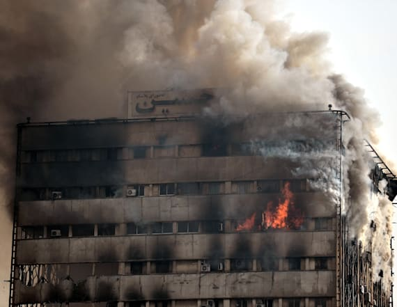 30 dead as blazing high-rise collapses in Tehran