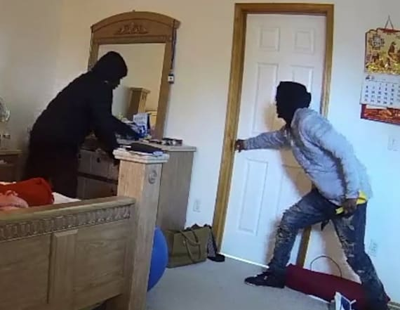 Violent home invasion caught on camera