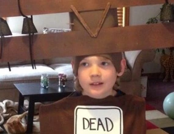 Boy's unusual Halloween costume is turning heads