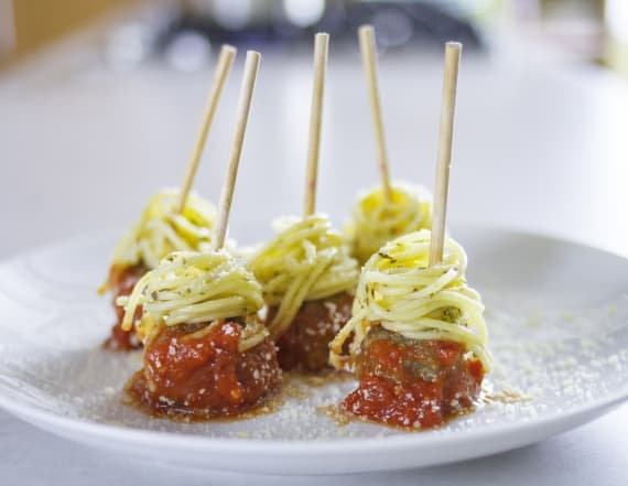 Best Bites: Spaghetti and meatballs on a stick