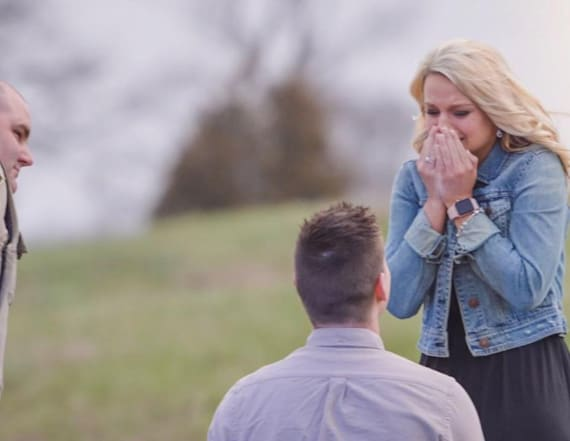 Woman's arrest turns into proposal during prank
