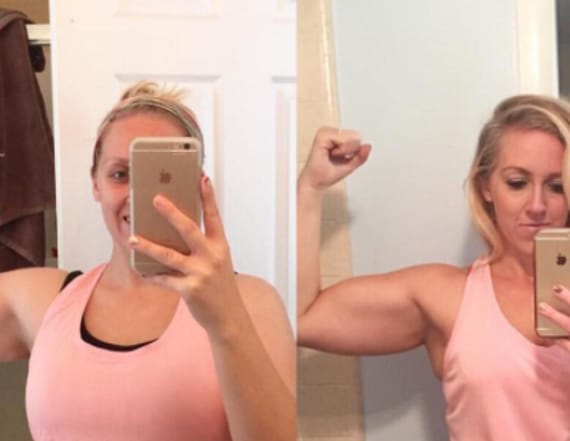 Woman posts viral before, after 'weight loss' photo