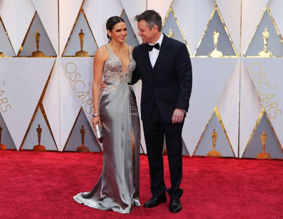 Matt Damon and wife rock Oscars red carpet