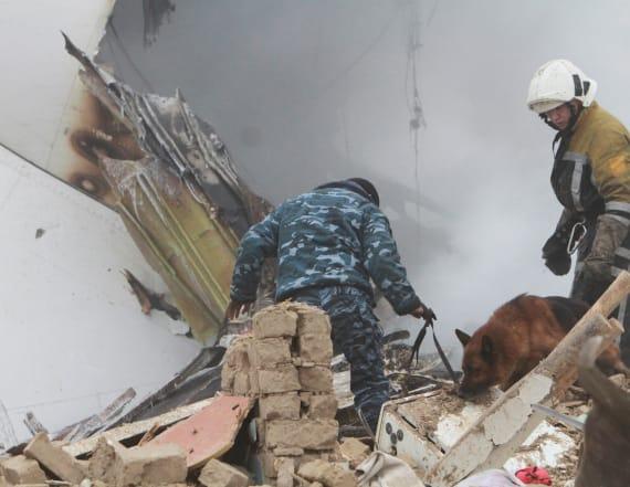 Dozens killed as Boeing 747 crashes into village