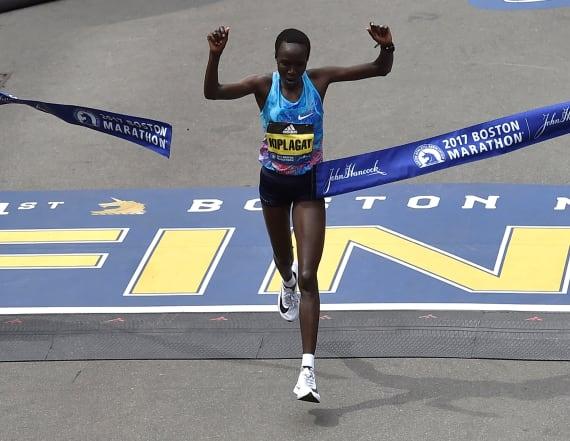 Kenya's Kiplagat wins women's Boston Marathon