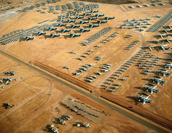 The boneyard, where US Air Force birds go to die