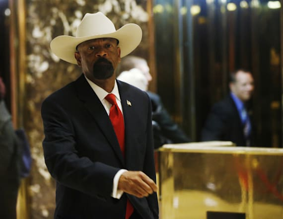 David Clarke makes lewd remarks at 'DeploraBall'