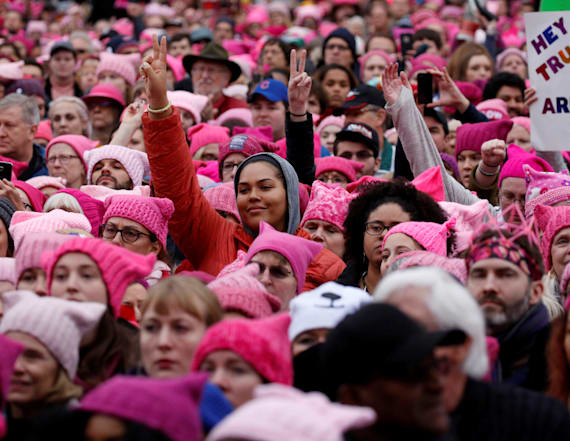 Women swarm streets across US to protest Trump