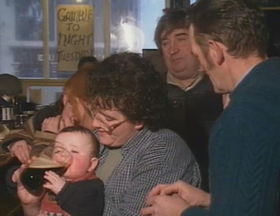 Video of pint-drinking baby goes viral