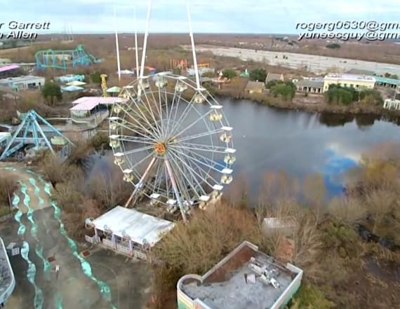 Eerie images from closed amusement park