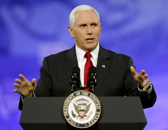 Pence's Twitter account makes flub -- twice