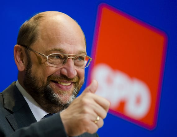 Germany's Schulz riffs off Trump's campaign slogan