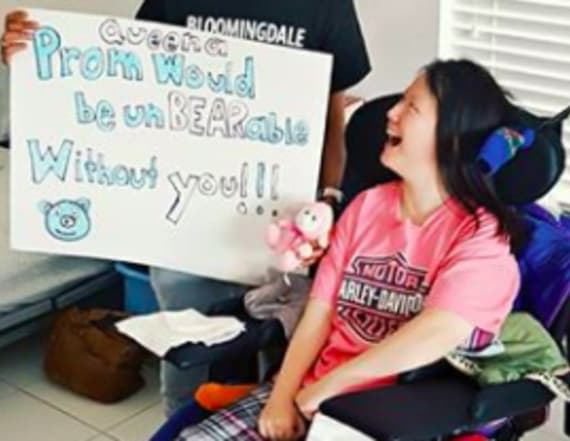 Attack survivor finally gets to attend prom