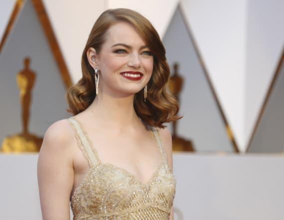Emma Stone makes political statement at Oscars