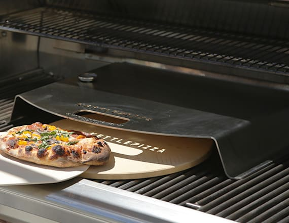 Turn your gas grill into a pizza oven