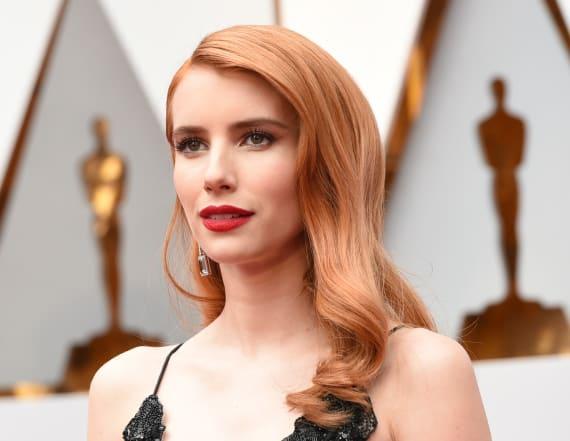 Emma Roberts almost rips actress' dress at Oscars